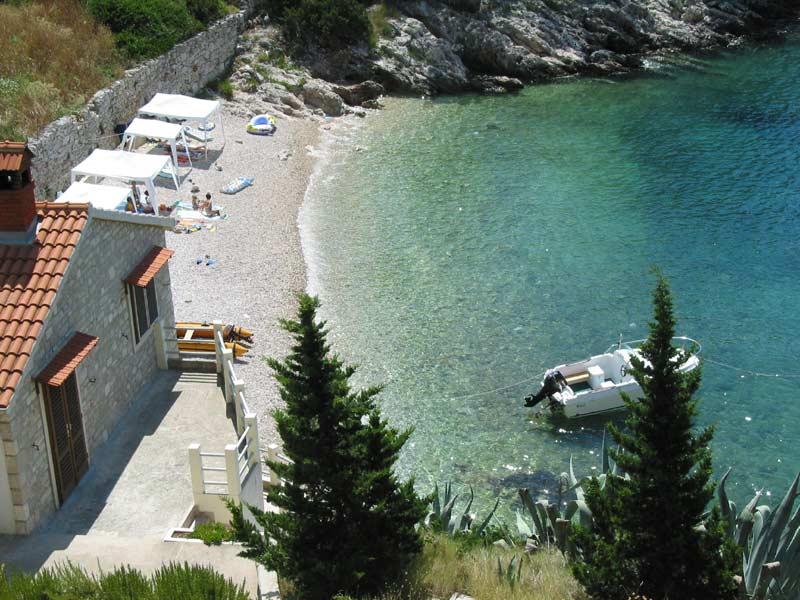 Chorvatsko domy na pláži